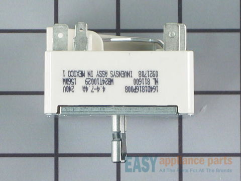 "6"" Surface Burner Switch  - 1560W – Part Number: WB24T10029"